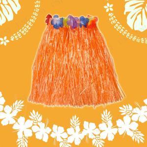 Patymo ハワイアンスカート ショート オレンジ コスプレ 衣装 ハロウィン 仮装 大人 コスチューム フラダンス|jewelworld