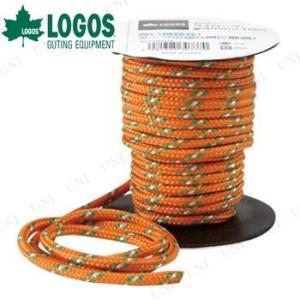 ドームテントやスクリーンタープの設営に便利な約10mの張り綱。視認性の高いオレンジ色です。レジャー、...