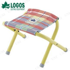 LOGOS(ロゴス) チェッカー スツール レッド キャンプ用品 イス 折り畳み チェアー アウトドア 折りたたみ椅子 jewelworld
