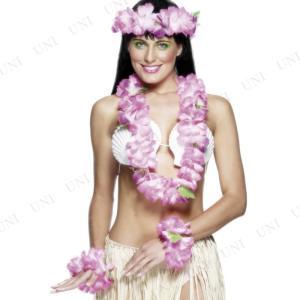 ハワイアンセット ピンク コスプレ 衣装 ハロウィン 仮装 大人 コスチューム 大人用 女性用 レディース|jewelworld