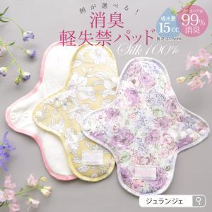 布製 消臭軽失禁パッド 尿漏れパッド 女性用 軽い尿モレ対策 15cc対応 肌面シルク ゆうパケット対応