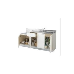 LIXIL サンファーニ<ティオ> ブロックキッチン  間口165cm(シンクユニット105cm/コンロユニット60cm) 034シリーズ 水栓金具/ジャバラホース排水セット付|jfirst