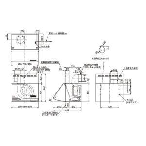 富士工業 レンジフード シロッコファン スタンダード 900間口 ブラック/ホワイト BDE-3HL-901 BK/W|jfirst|02