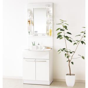パナソニック洗面化粧台 エムライン W600 H1800用 蛍光灯1面鏡 くもりシャット仕様 シングルレバーシャワー水栓 GQM60K1SMK+GQM60KSCW|jfirst