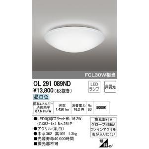 ODELIC シーリングライト 非調光 FCL30W相当 OL 291 089ND(昼白色)LEDランプ|jfirst