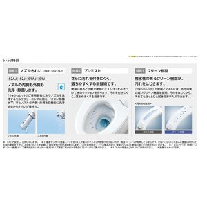 TOTO シートタイプ温水洗浄便座 ウォシュレット S2J レバー便器洗浄タイプ ◆TCF6551J|jfirst|02