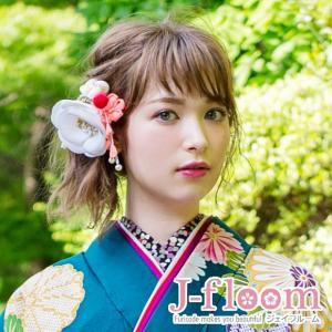 成人式 振袖 髪飾り  椿 レトロ 白 KimonoWalker non-noカタログ掲載商品|jfloom