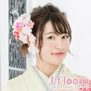 成人式 髪飾り 振袖 髪飾り ラメフラワー ピンク KimonoWalker non-noカタログ掲載商品|jfloom