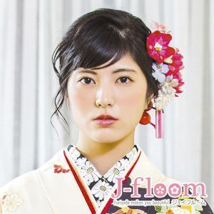 成人式 髪飾り 振袖 髪飾り 和風菊 タッセル ピンク nonno掲載商品|jfloom
