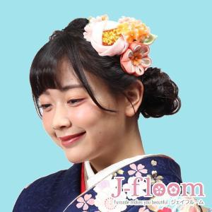 成人式 髪飾り 振袖 髪飾り 椿 つまみ細工 小花 ピンク|jfloom
