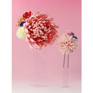 成人式 髪飾り 振袖髪飾り 大菊 ピンク jfloom