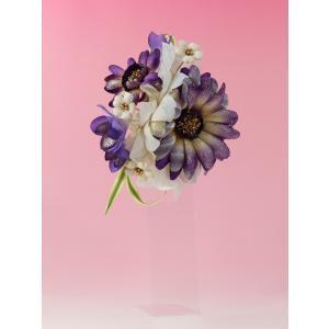 成人式 髪飾り 振袖髪飾り マーガレット 紫|jfloom