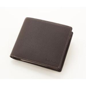 Paul Smith カラーブロックエンボスパス付二つ折り財布(ブラウン)|jfulstore