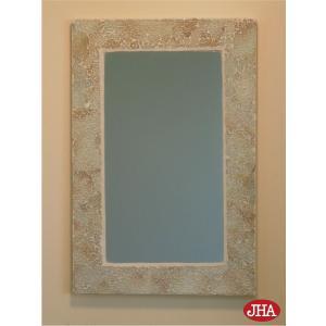 JHAモザイクミラー クラッシュタイプ(パール色)W303×H452 RT-12 壁掛け鏡 ウォールミラー リゾートミラー 洗面 トイレ おしゃれ 店舗|jha