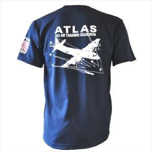 第203教育航空隊正式部隊Tシャツです! 胸に203ATSの文字が入っています。背中には飛行中のP-...