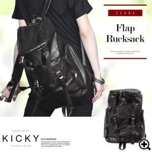 リュックサック メンズ フラップリュック 大容量 ストリート系 鞄 カバン お兄系 ヴィジュアル系 V系 送料無料|jiggys-shop
