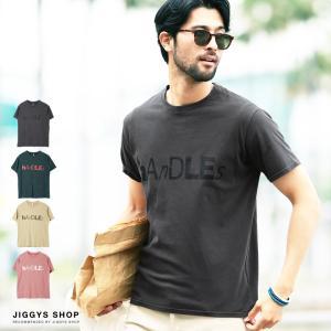Tシャツ メンズ トップス カットソー 半袖Tシャツ ロゴプリントTシャツ ピグメント加工