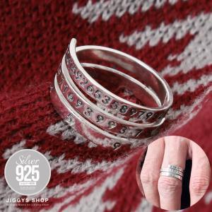 指輪 リング メンズ シルバー925 ナンバリング アクセサリー プレゼント ギフト