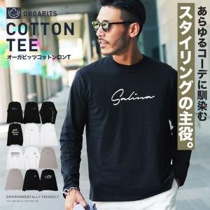 ロンT Tシャツ メンズ ロゴT ロゴプリントTシャツ 長袖...