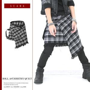 キルトロール メンズ スカート お兄系 ヴィジュアル系 ホスト 個性的 V系 服 派手 / ロールアシメキルト|jiggys-shop