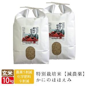 送料無料 かにのほほえみ 玄米 10kg 5kg×2袋 コシヒカリ 西日本 兵庫県 但馬産 特A カニ殻肥料 環境に優しい美味しいお米 カニ料理 玄米カイロ  令和元年産|jigomeya