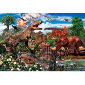 ジグソーパズル BEV-80-016 子供用パズル 白亜紀の恐竜 80ピース|jigsawclub