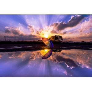 ジグソーパズル EPO-71-927 風景 夕焼けの水たまり-福岡 300ピース 【あすつく】