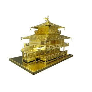 立体パズル TEN-T-MN-006G メタリックナノパズル ゴールドシリーズ 金閣寺