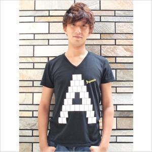 アダチケンゴ オリジナル「A」Tシャツ〜メンズ|jiima
