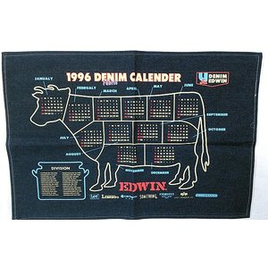 EDWIN オールド・デニムカレンダー 1996|jiima