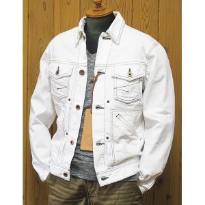SEAMS(シームス) デニムジャケット ホワイト|jiima