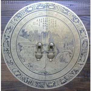 中国伝統装飾金具 十二干支彫刻扉飾り引き手 A012 440×440mm|jikkenkoubou