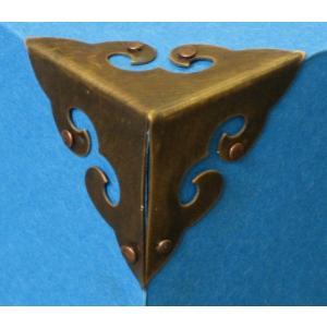 中国古典家具用金具 角飾り E028(4個入)52×52×52|jikkenkoubou