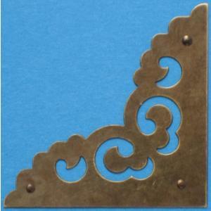 中国古典家具用金具 角飾り E152(4個入)115×115|jikkenkoubou