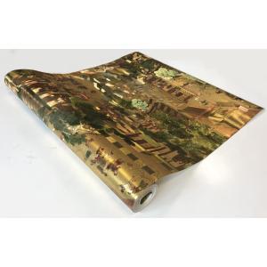 【送料無料】中国風壁紙クロス 清明上河図(ゴールド色) JL09901 jikkenkoubou