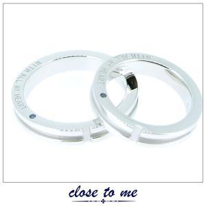 ペアリング 指輪 クロストゥーミー close to me ブルーダイヤモンド クロス シルバー アクセサリー カップル ペア リング SR14-007|jikudo