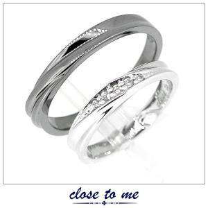 ペアリング 指輪 クロストゥーミー close to me ハート キュービックジルコニア シルバー アクセサリー カップル ペア リング SR14-016L SR14-016M|jikudo