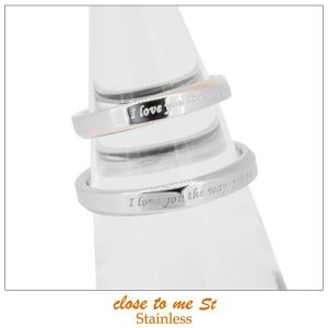 ペアリング 指輪 ステンレス クロストゥーミー close to me St アクセサリー カップル ペア リング メッセージ SR11-003WH SR11-003PK|jikudo