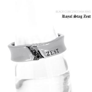 指輪 メンズ ロイヤルスタッグゼスト ブラックキュービックジルコニア シルバー ジュエリー アクセサリー リング SR25-001|jikudo