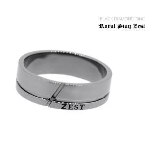 指輪 メンズ ロイヤルスタッグゼスト クロス ブラックダイヤモンド シルバー ジュエリー アクセサリー リング SR25-002|jikudo