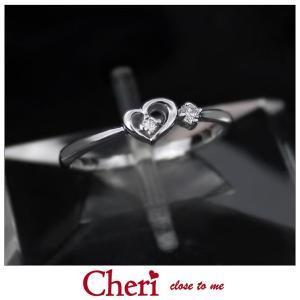 指輪 レディース ブランド シェリ Cheri ハート キュービックジルコニア シルバー ジュエリー アクセサリー リング SR36-008|jikudo
