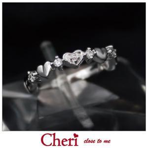 指輪 レディース ブランド シェリ Cheri ハート キュービックジルコニア シルバー ジュエリー アクセサリー リング SR36-010|jikudo