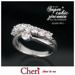指輪 レディース ブランド シェリ Cheri スーパーキュービックジルコニア シルバー ジュエリー アクセサリー リング SR37-005|jikudo