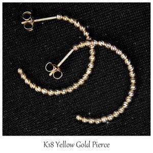 ピアス レディース K18YG イエローゴールド ファッション ジュエリー フープピアス cercle(セルクル) 送料無料|jikudo