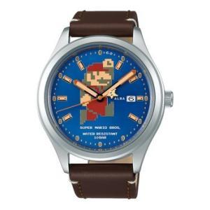 スーパーマリオ 腕時計 メンズ レディース セイコー アルバ SEIKO ALBA×SUPER MARIO コラボレーション ウオッチ ビッグサイズ マリオ ACCA 正規品|jikudo