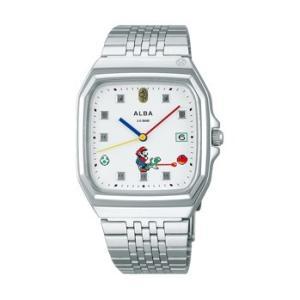 スーパーマリオ 腕時計 メンズ レディース セイコー アルバ SEIKO ALBA×SUPER MARIO コラボレーション ウオッチ スーパーファミコン ヨッシー ACCK 正規品|jikudo