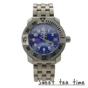 セクター 腕時計 メンズ SECTOR 時計 DIVING TEAM 1000 自動巻 ブルー文字盤 チタン ウオッチ 223285035 正規品|jikudo