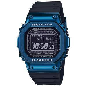 カシオ Gショック CASIO G-SHOCK 腕時計 メンズ ウオッチ メタルケース×ソフトウレタンバンド ブラックxブルー Bluetooth 電波ソーラー GMW-B5000G 国内正規品|jikudo