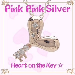 ピンクピンクシルバー PinkPinkSilver ネックレス ハート オンザ キー ピンクシルバー ペンダント (シルバーチェーン付き) Arisa Hnasaki|jikudo