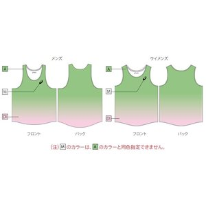 アシックス プリントオーダーコンポ受注生産 ランニングシャツ(メンズ) 陸上・ランニング ウエア PA01-PO|jimmy-sp